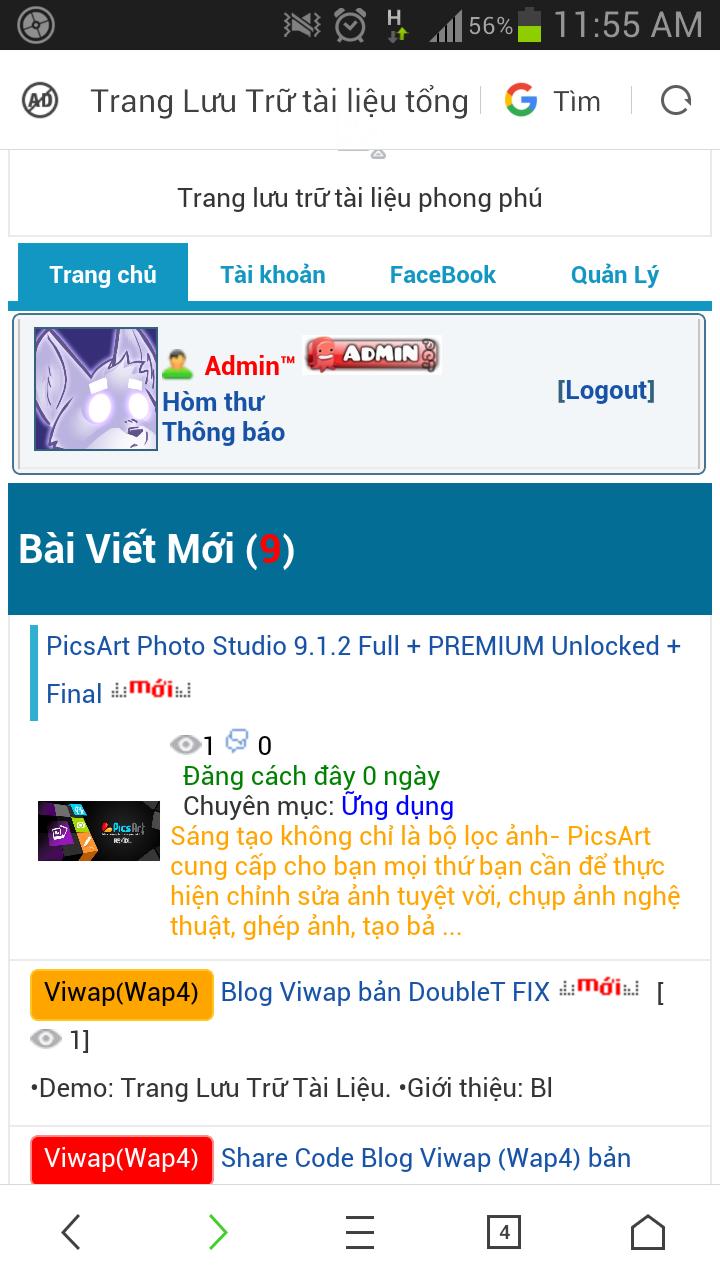 Blog Viwap bản DoubleT ver 2