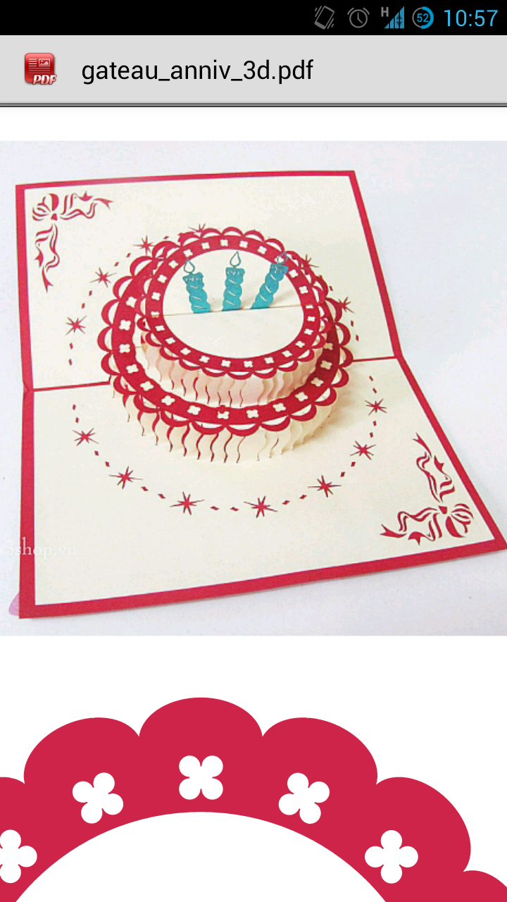 Gateau Anniv 3D : Bánh gato mừng sinh nhật