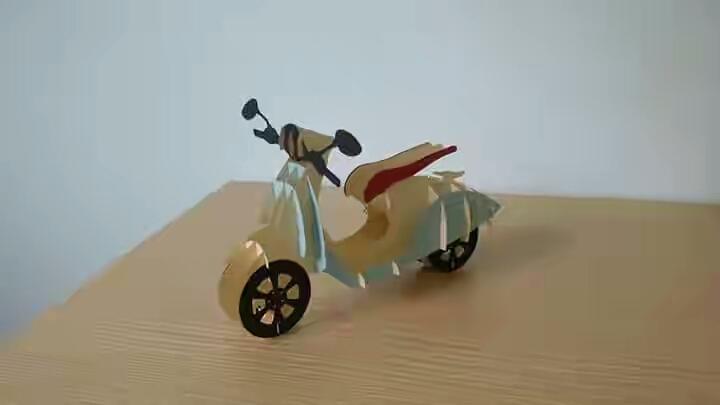 Moto Sliceform: Xe máy Vespa thời thượng